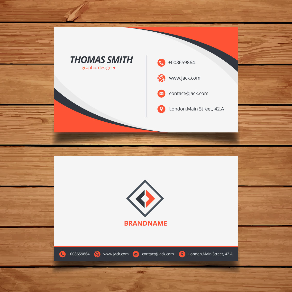 13 Orange corporate business card
