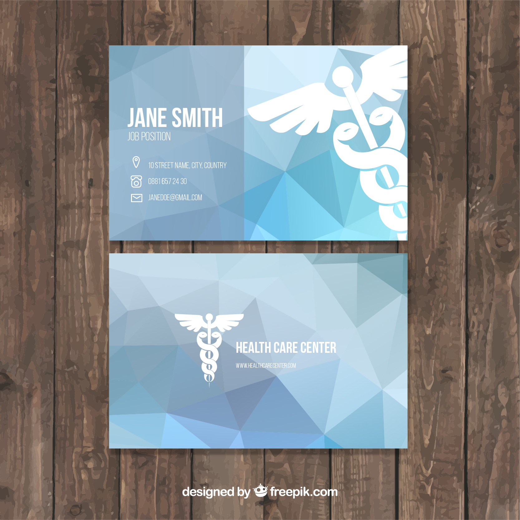 15 Abstract Blue Medical Business Card