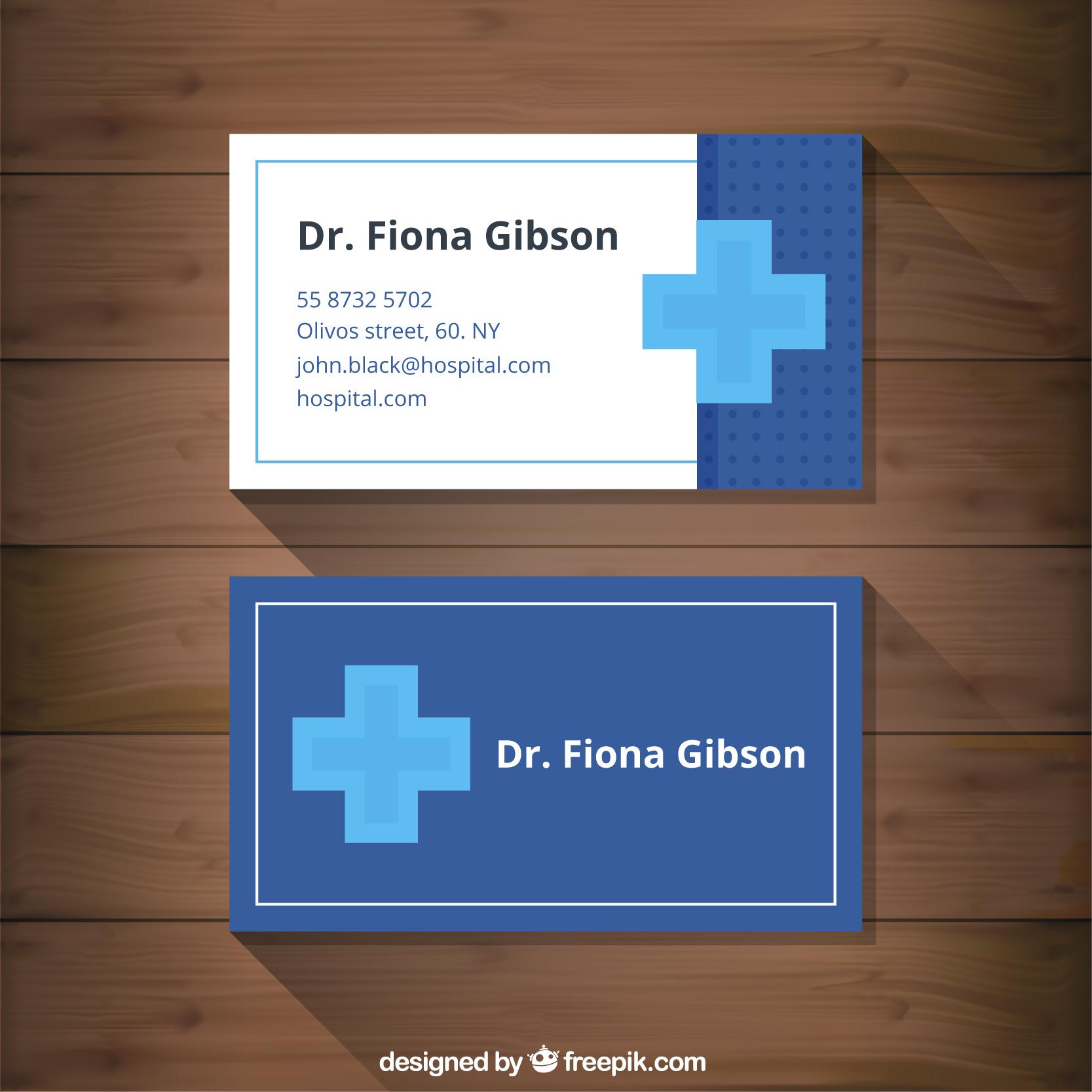 Mẫu card visit đẹp dành cho bác sỹ