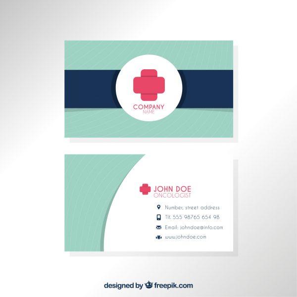 mẫu card visit y tế đẹp
