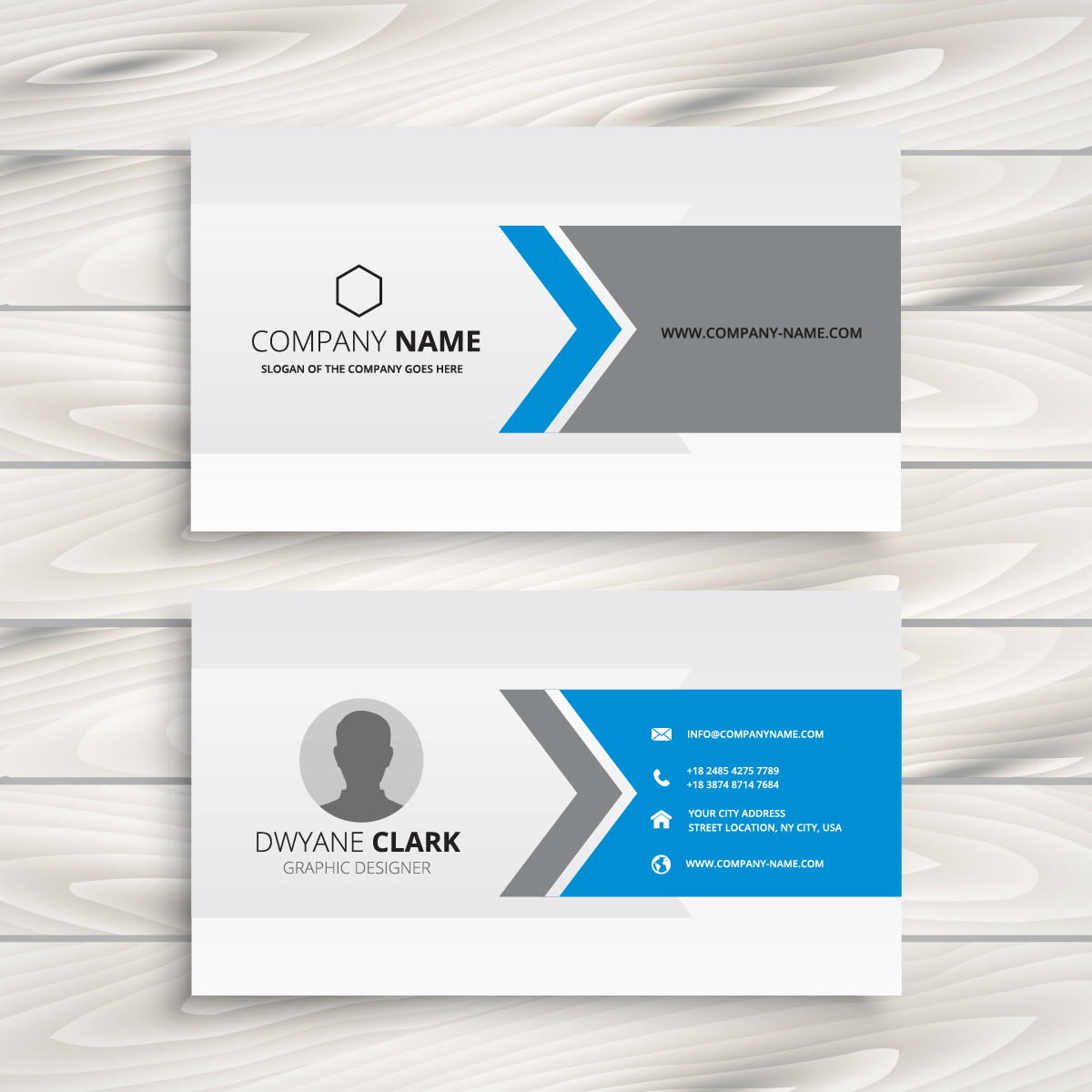 clean white business card design
