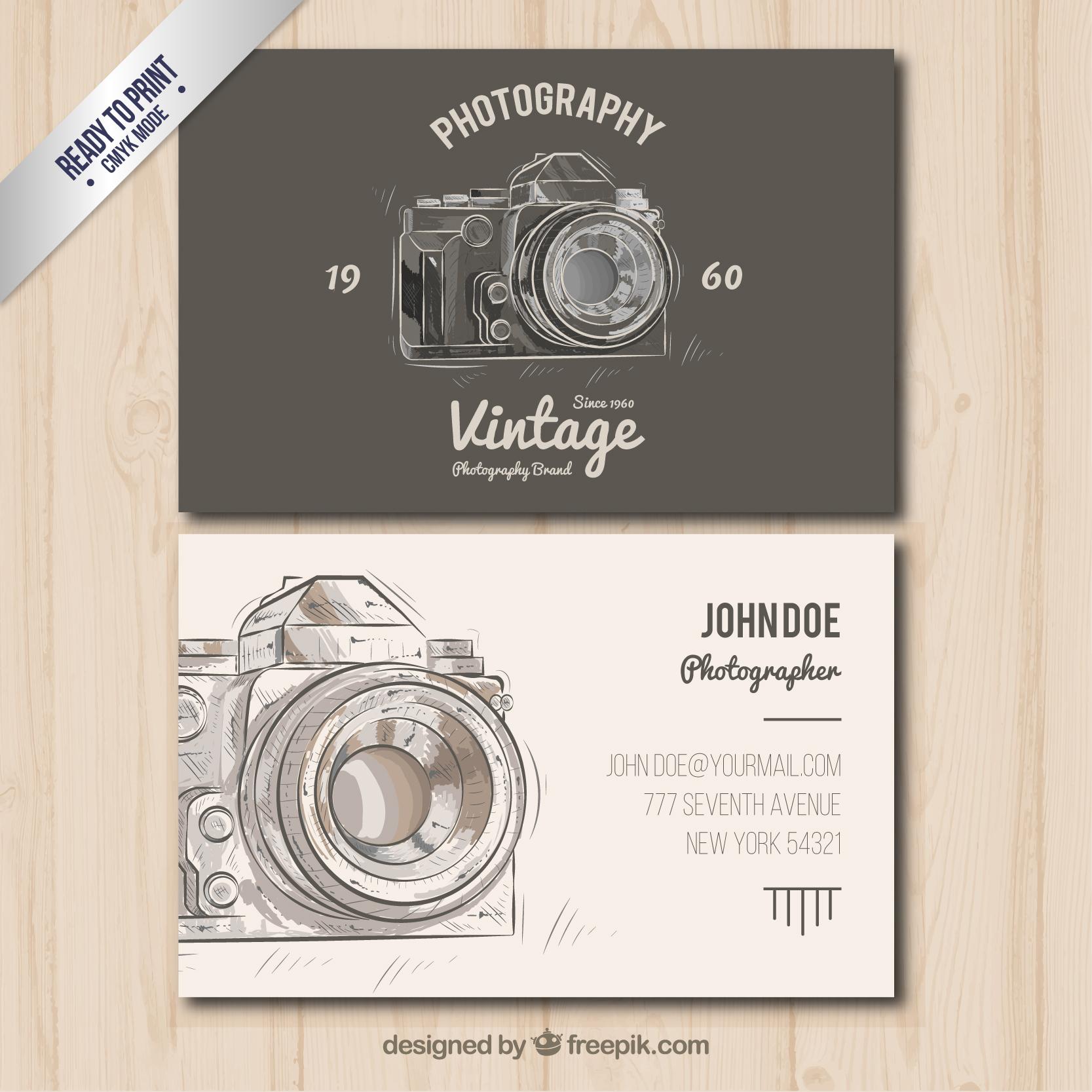 Mẫu in card visit photographer