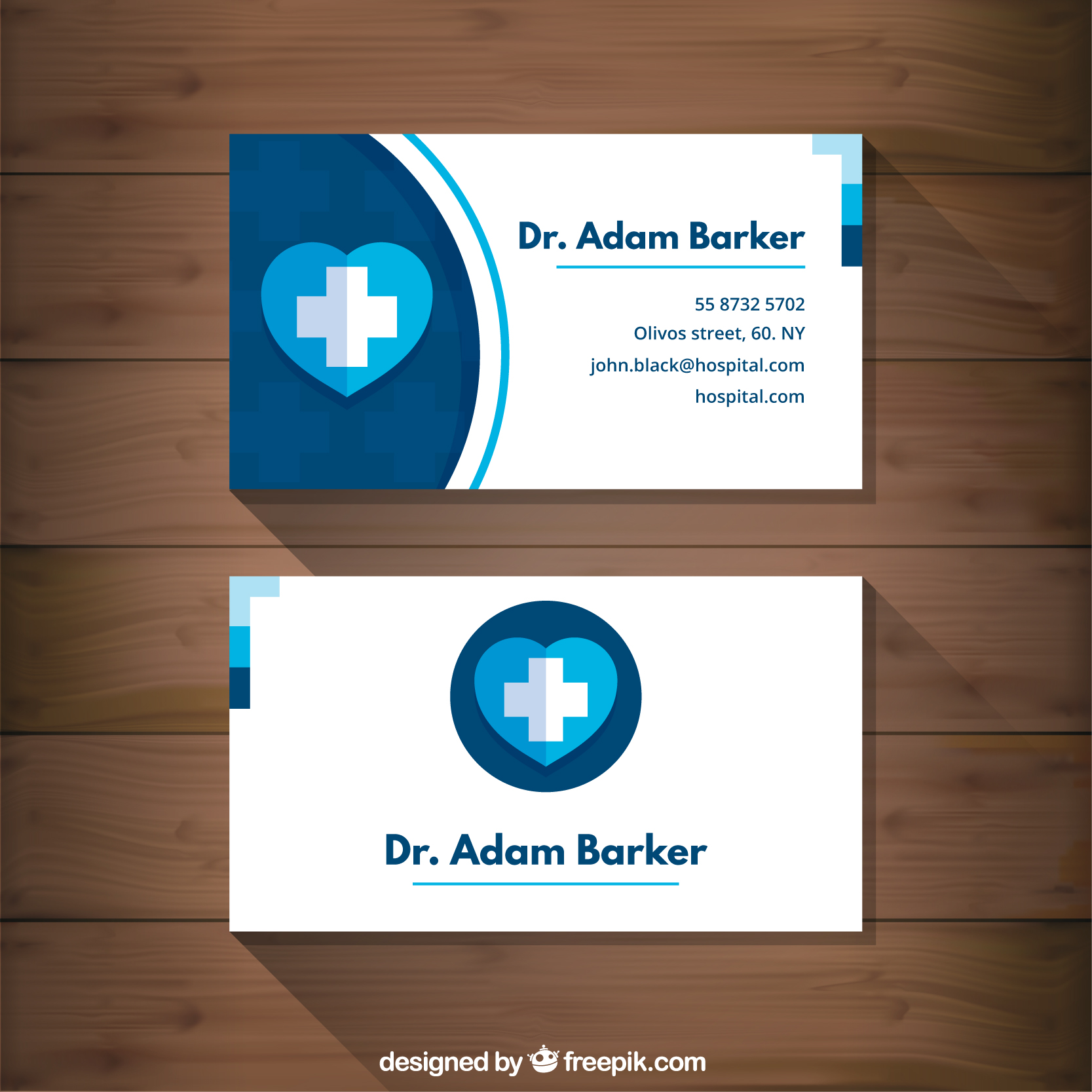 Mẫu in card visit y tế đẹp
