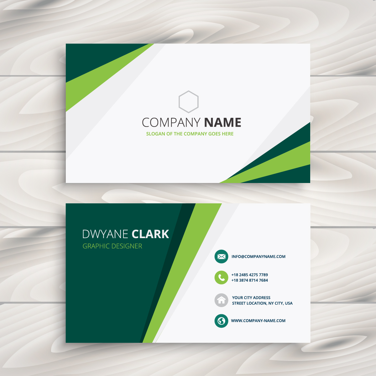 clean green visit card