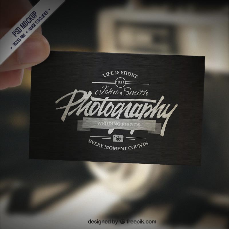 Mẫu in card visit ấn tượng đầy chất nghệ sĩ dành cho các nhiếp ảnh gia