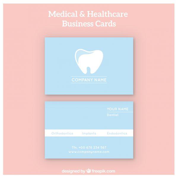 Mẫu card visit phòng khám nha khoa