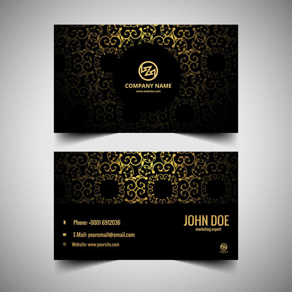 Màu sắc card visit phong thủy – vàng kim vô cùng hợp với người mệnh kim